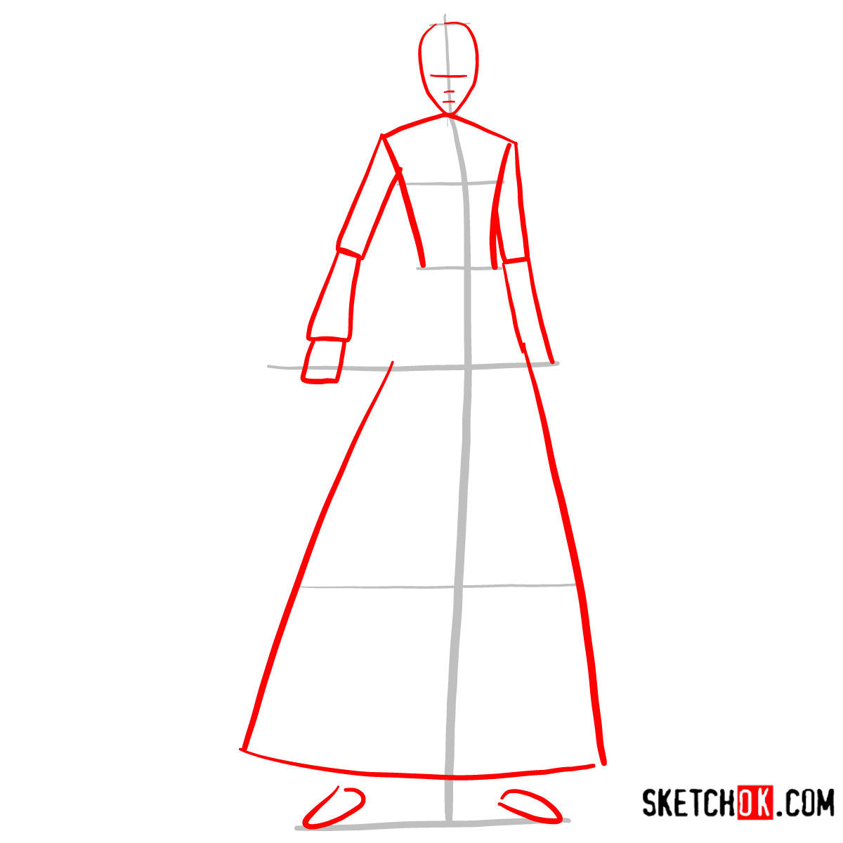 How to draw Ichigo Kurosaki full growth   Bleach - step 02