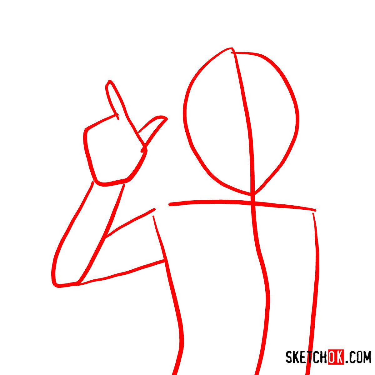 How to draw Yoruichi Shihōin   Bleach - step 01