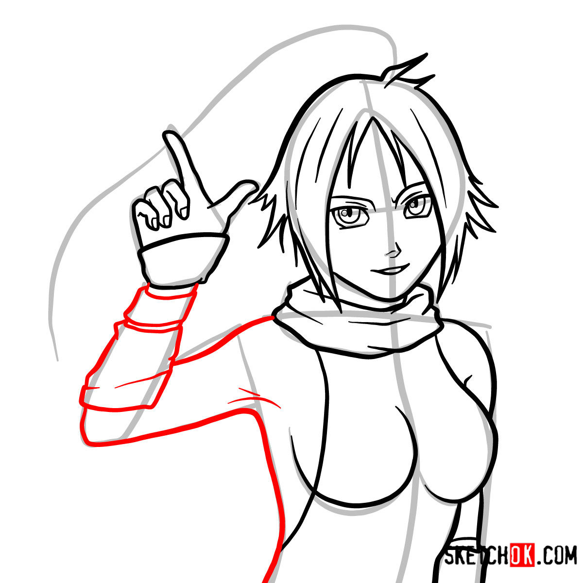How to draw Yoruichi Shihōin   Bleach - step 10