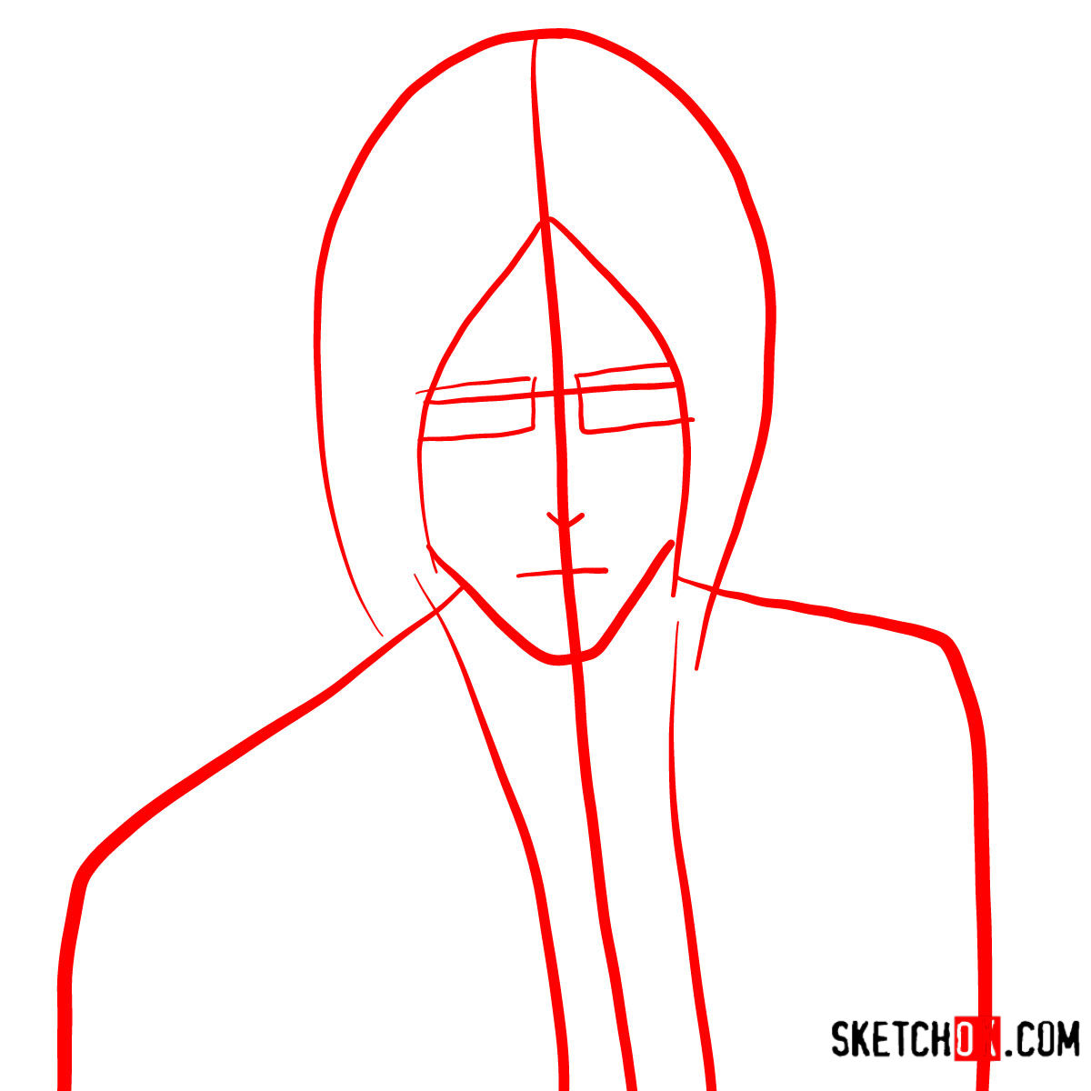 How to draw Uryū Ishida's face | Bleach - step 01