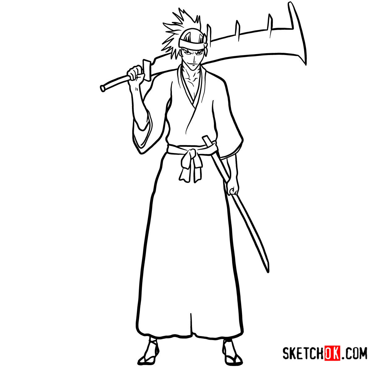 How to draw Renji Abarai full growth