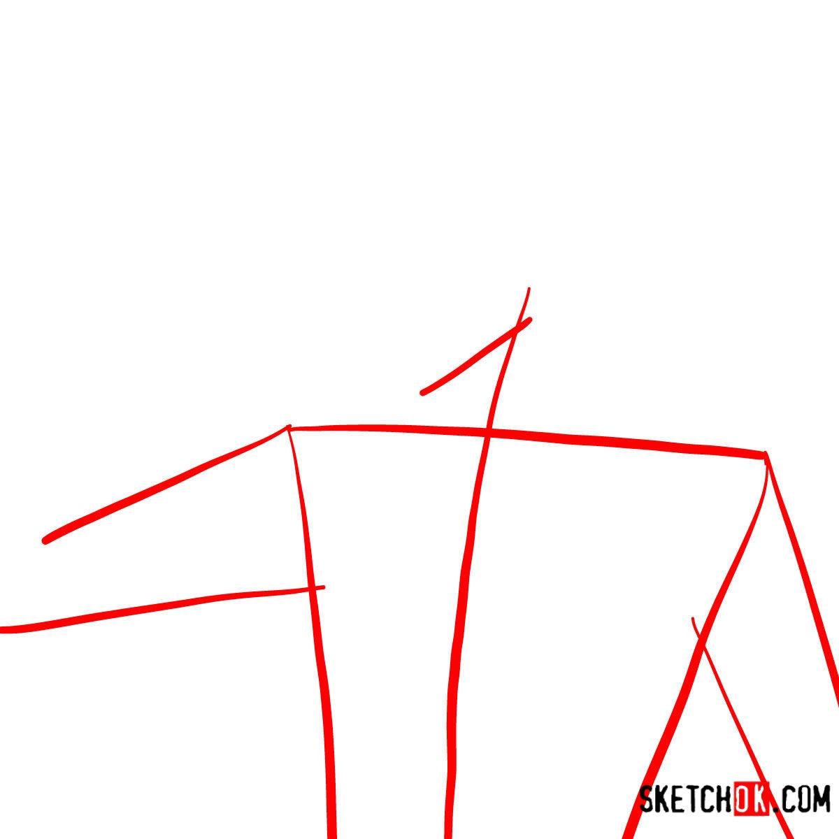 How to draw Ichigo Kurosaki unmasked   Bleach - step 01