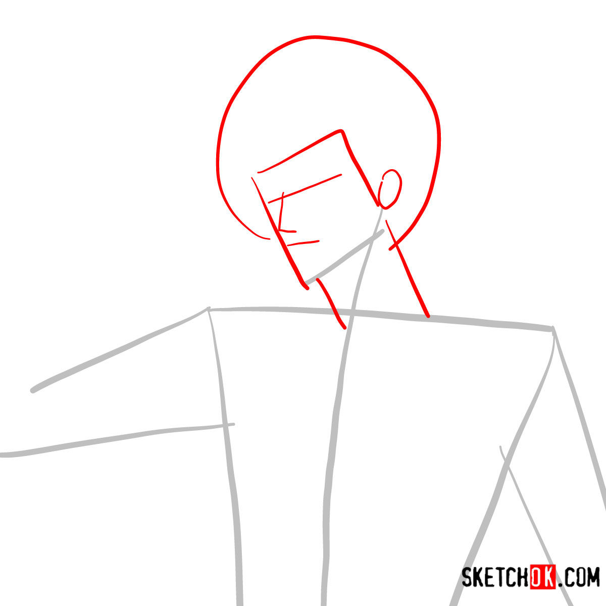 How to draw Ichigo Kurosaki unmasked   Bleach - step 02