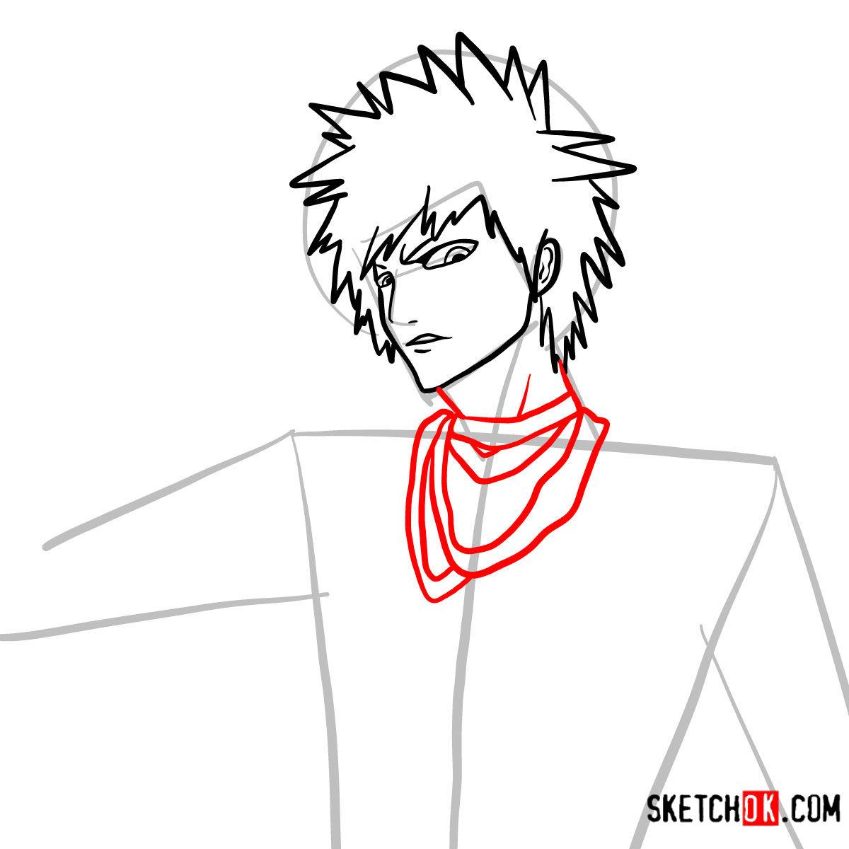 How to draw Ichigo Kurosaki unmasked   Bleach - step 08