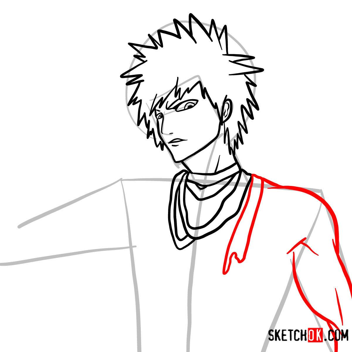 How to draw Ichigo Kurosaki unmasked   Bleach - step 09