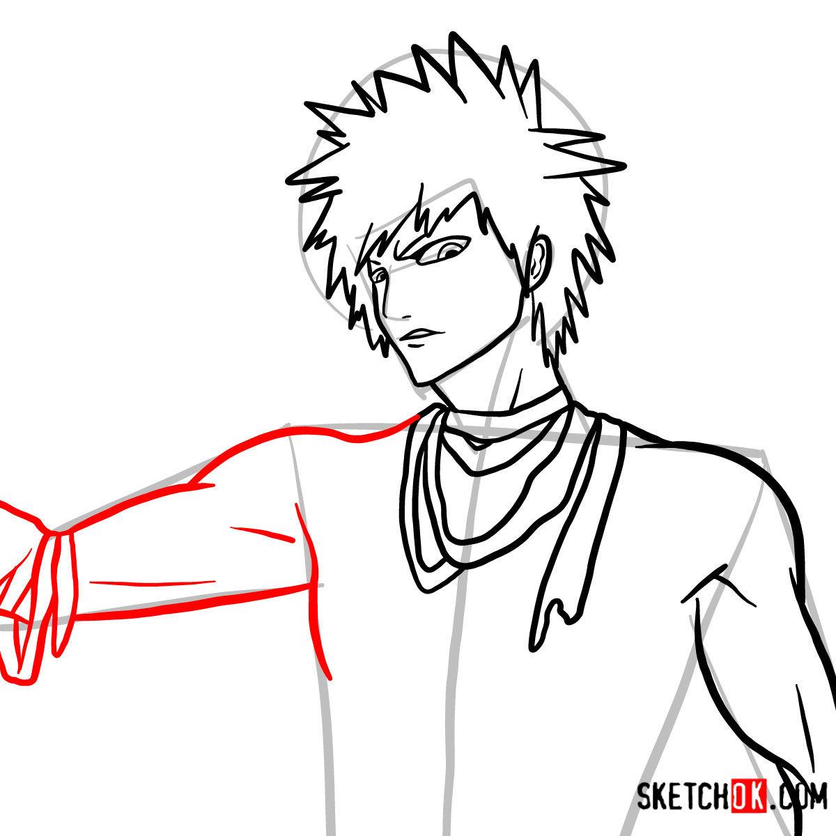 How to draw Ichigo Kurosaki unmasked   Bleach - step 10