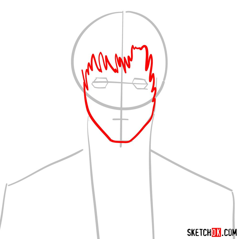 How to draw Touta Matsuda | Death Note - step 03