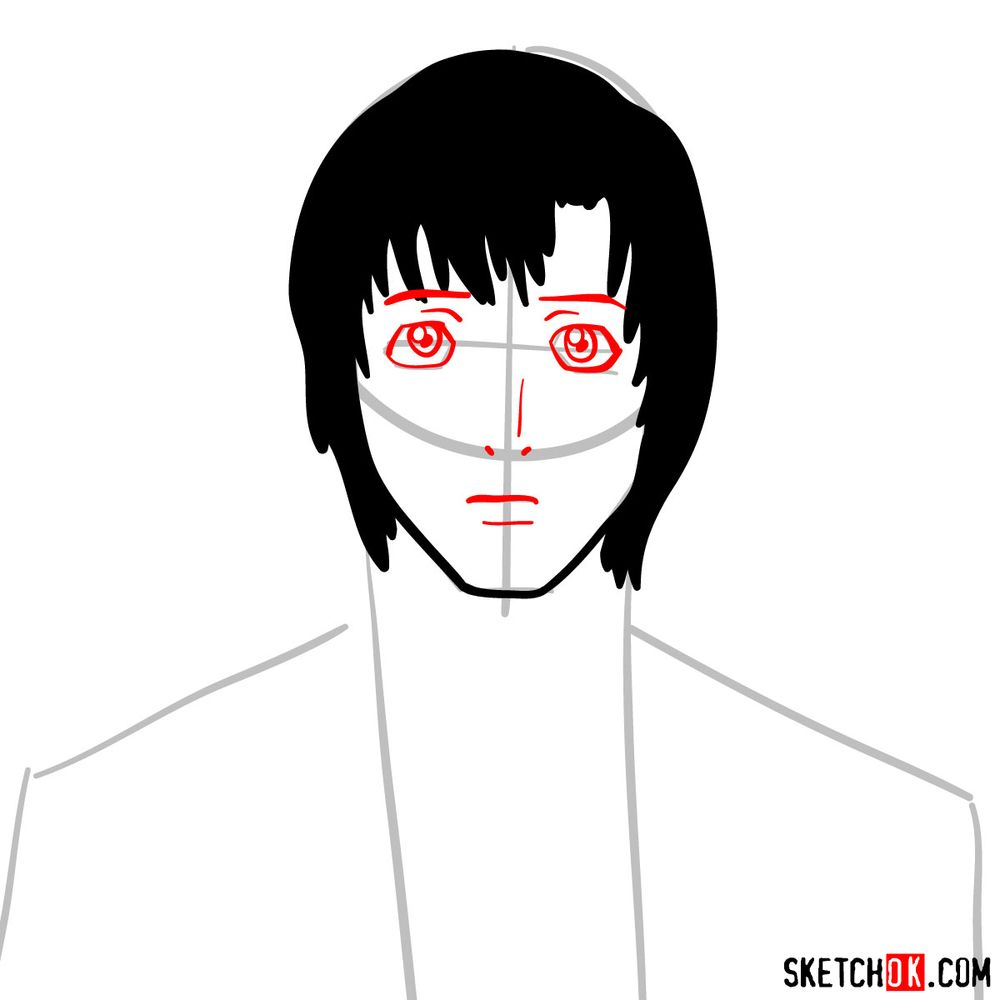 How to draw Touta Matsuda | Death Note - step 05
