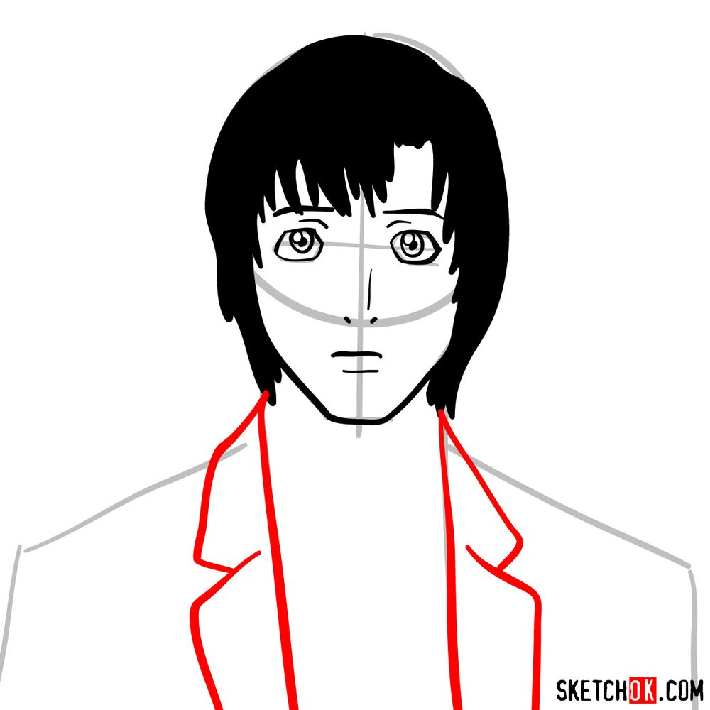 How to draw Touta Matsuda | Death Note - step 06