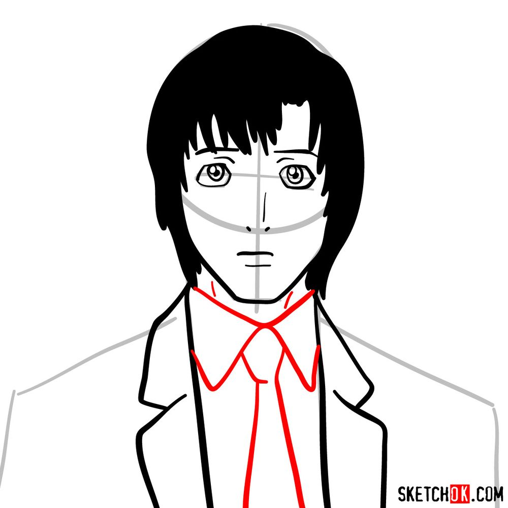 How to draw Touta Matsuda | Death Note - step 07