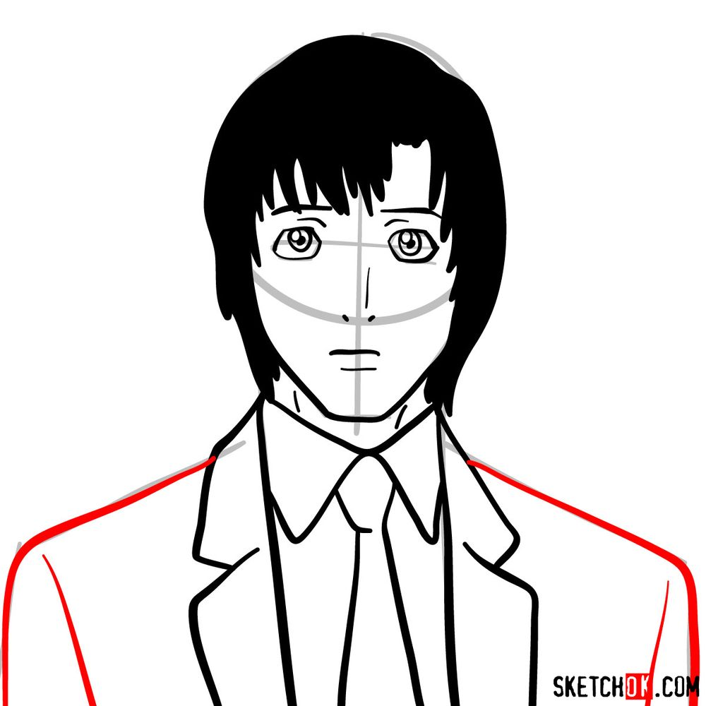 How to draw Touta Matsuda | Death Note - step 08