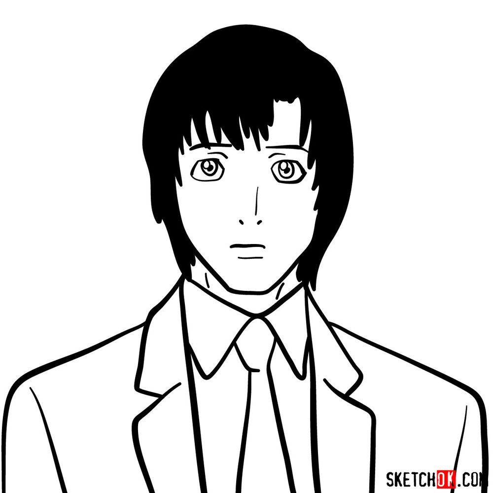 How to draw Touta Matsuda | Death Note - step 09