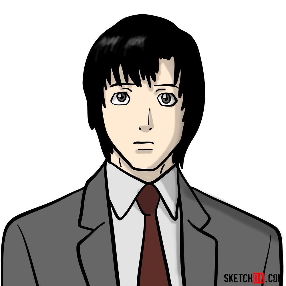How to draw Touta Matsuda | Death Note