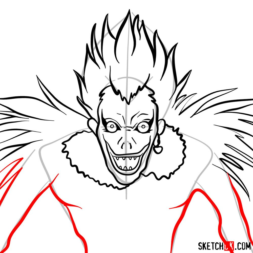 How to draw Ryuk | Death Note - step 08