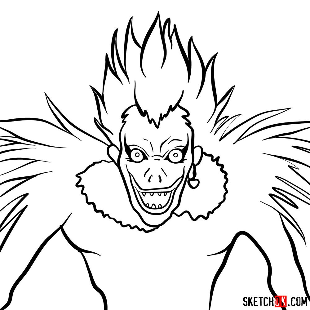 How to draw Ryuk | Death Note - step 09