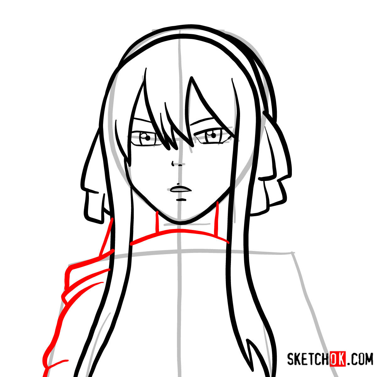 How to draw Ultear Milkovich's face | Fairy Tail - step 06