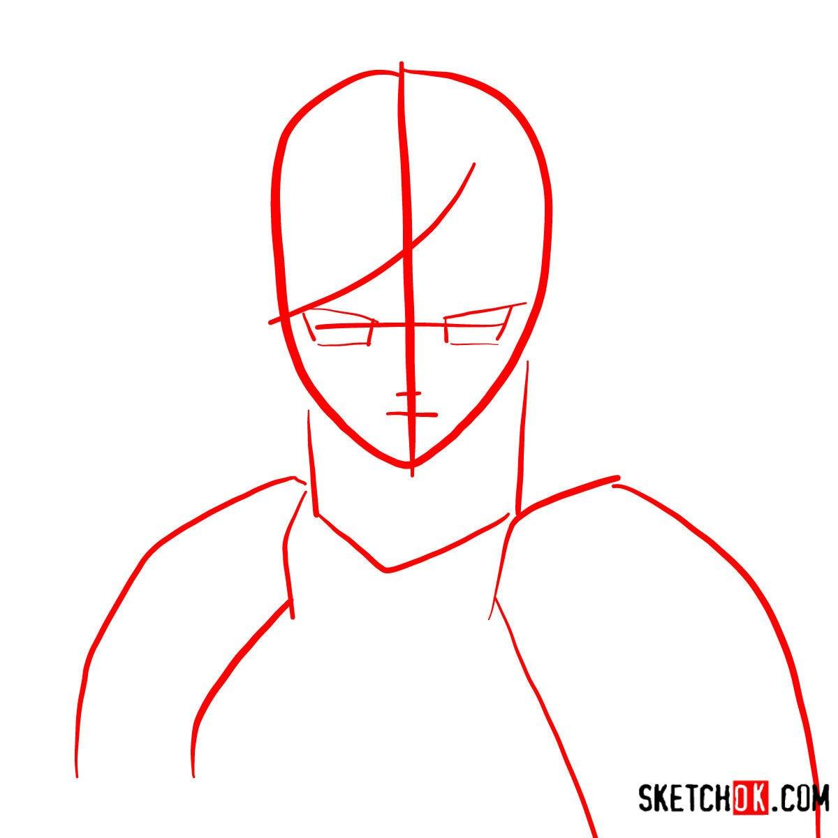 How to draw Erza Scarlet's portrait | Fairy Tail - step 01