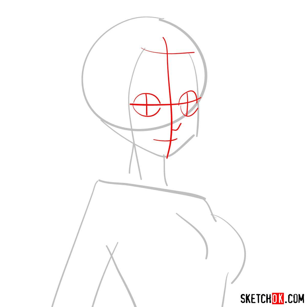 How to draw Mirajane's portrait (fairy tail) - step 02