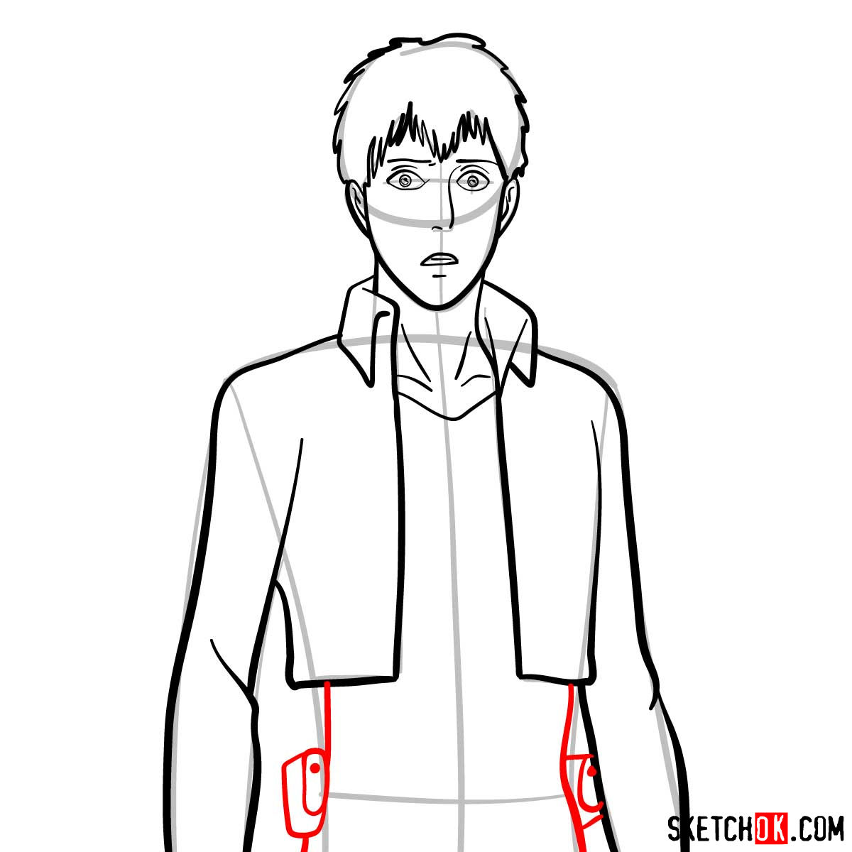 How to draw Bertholdt Hoover | Attack on Titan - step 07