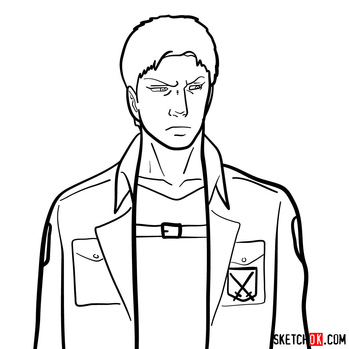How To Draw Reiner Braun Attack On Titan Step By Step