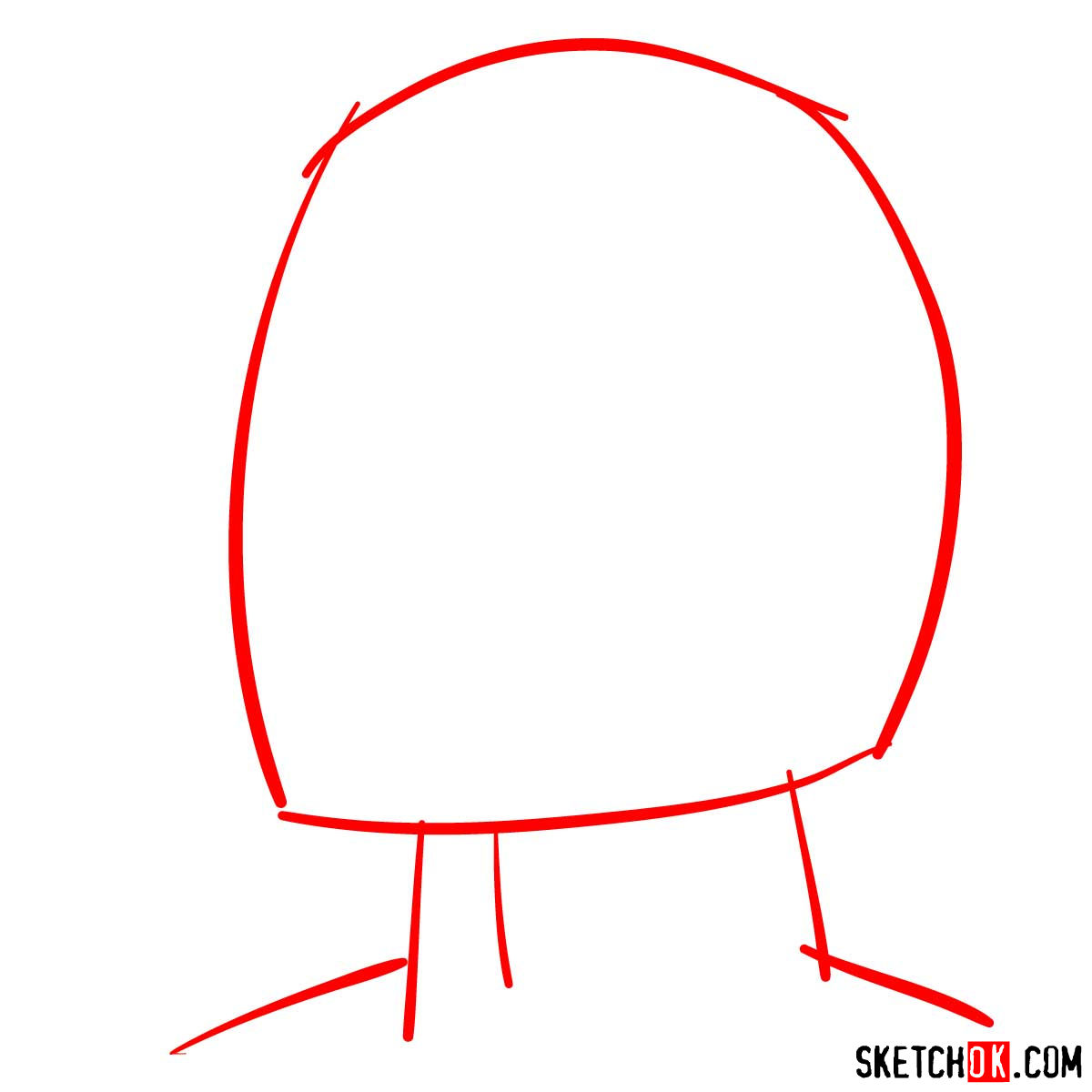 How to draw Armin Arlert's face - step 01