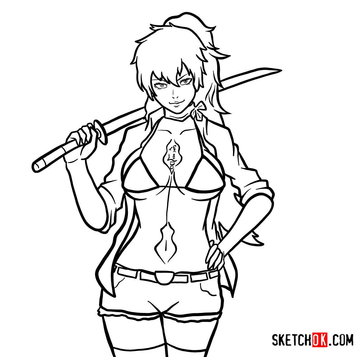 How to draw Shura Kirigakure | Blue Exorcist
