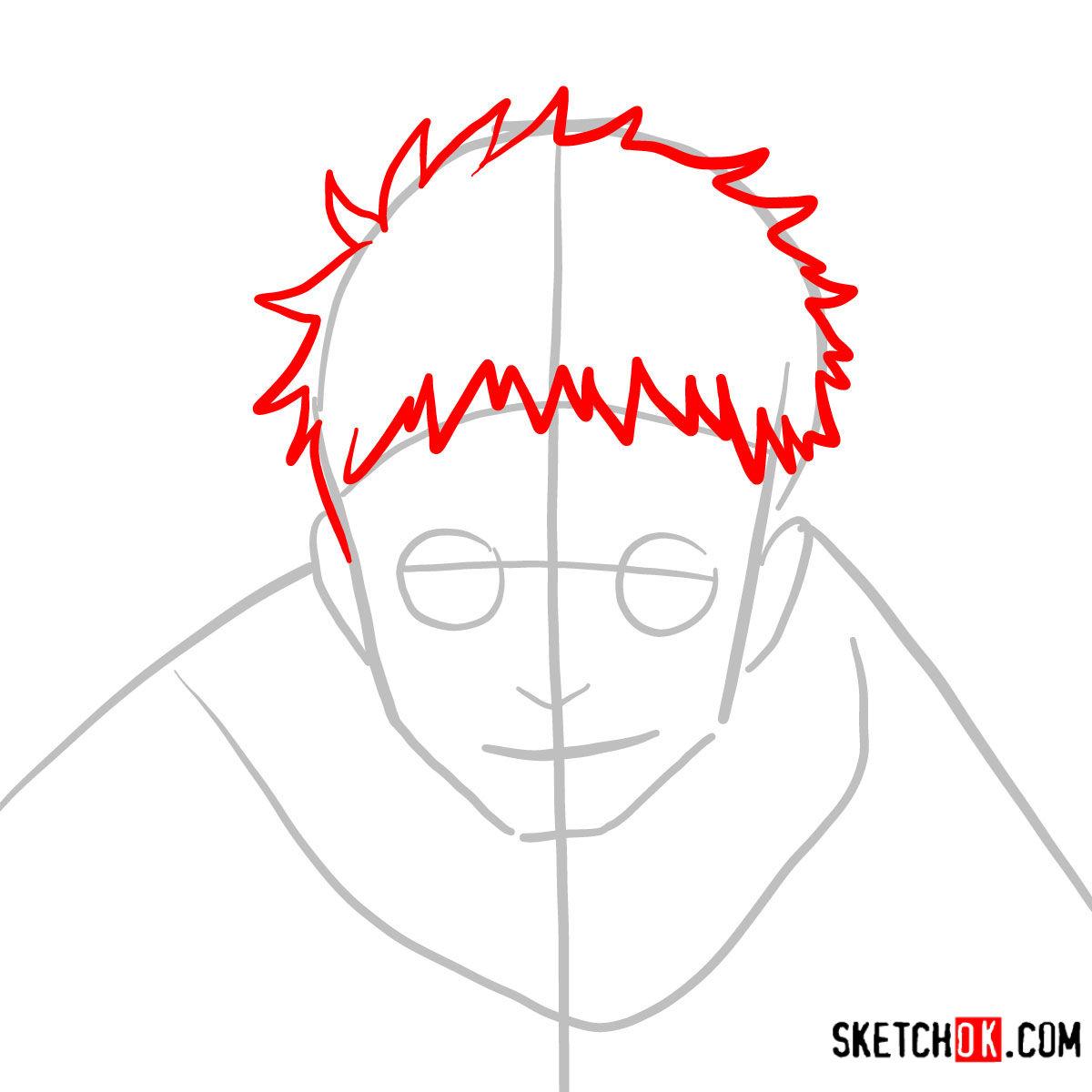How to draw Shiro Fujimoto | Blue Exorcist - step 03