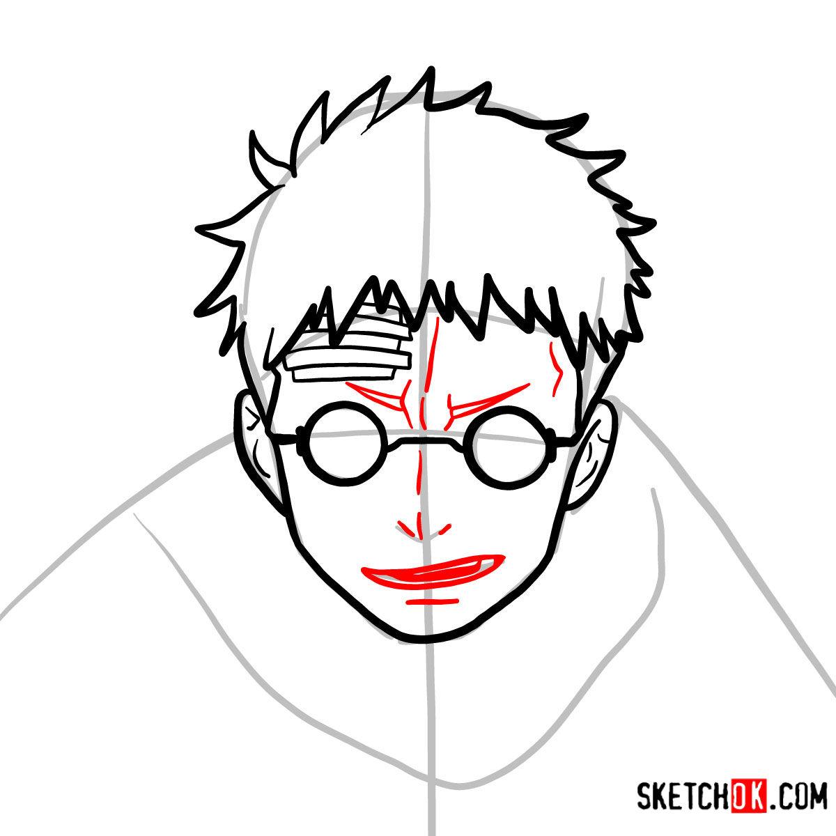 How to draw Shiro Fujimoto | Blue Exorcist - step 07