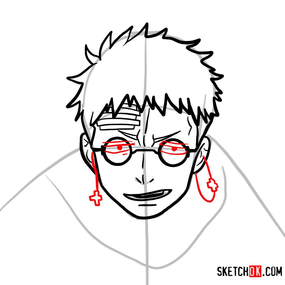 How to draw Shiro Fujimoto | Blue Exorcist - step 08