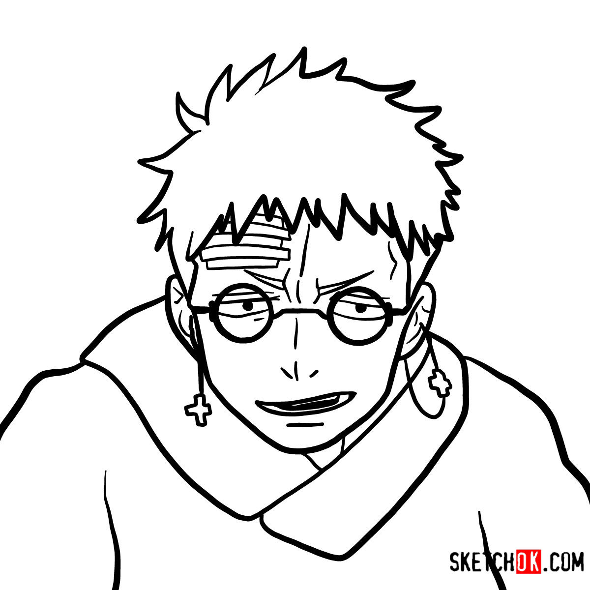 How to draw Shiro Fujimoto | Blue Exorcist