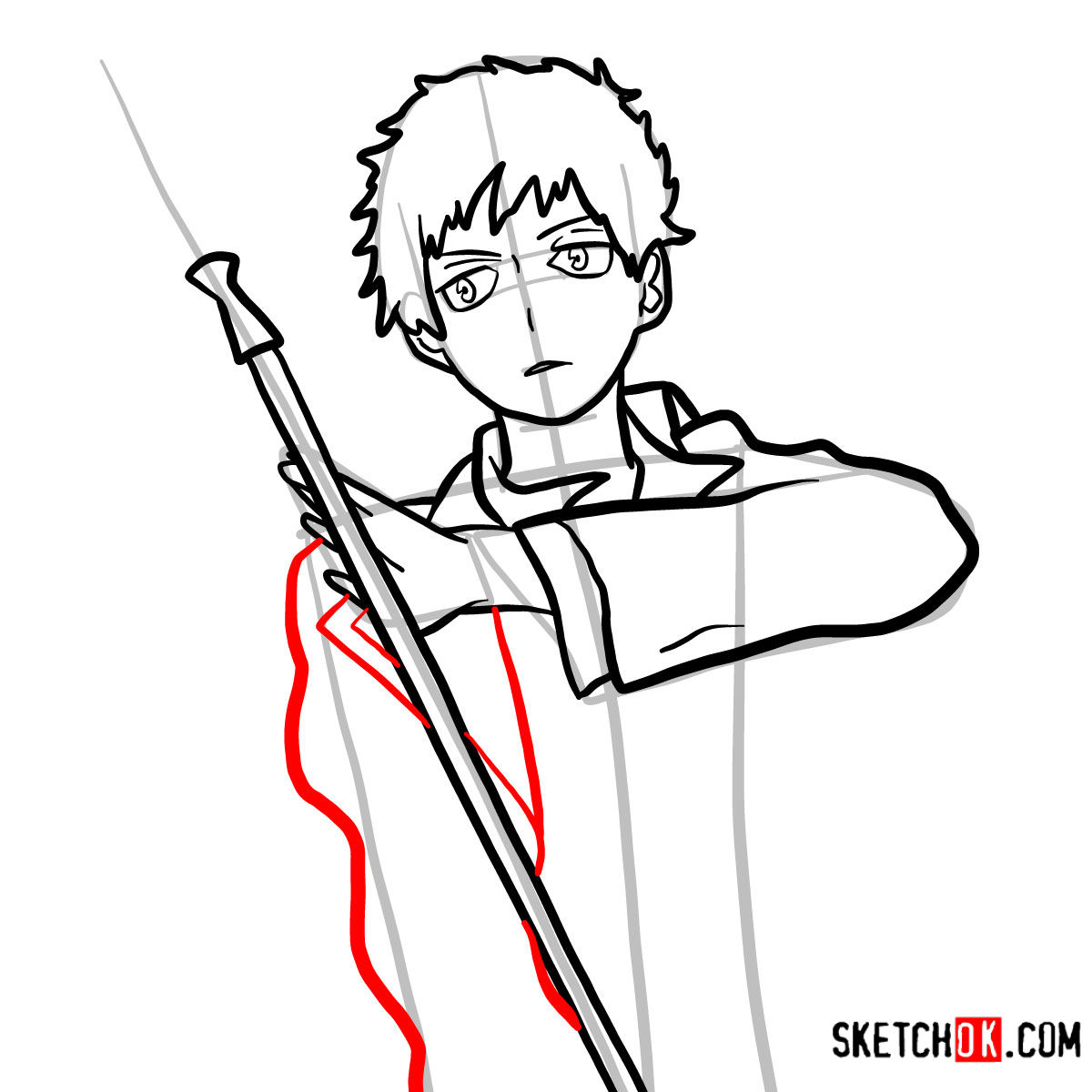 How to draw Renzo Shima | Blue Exorcist - step 10