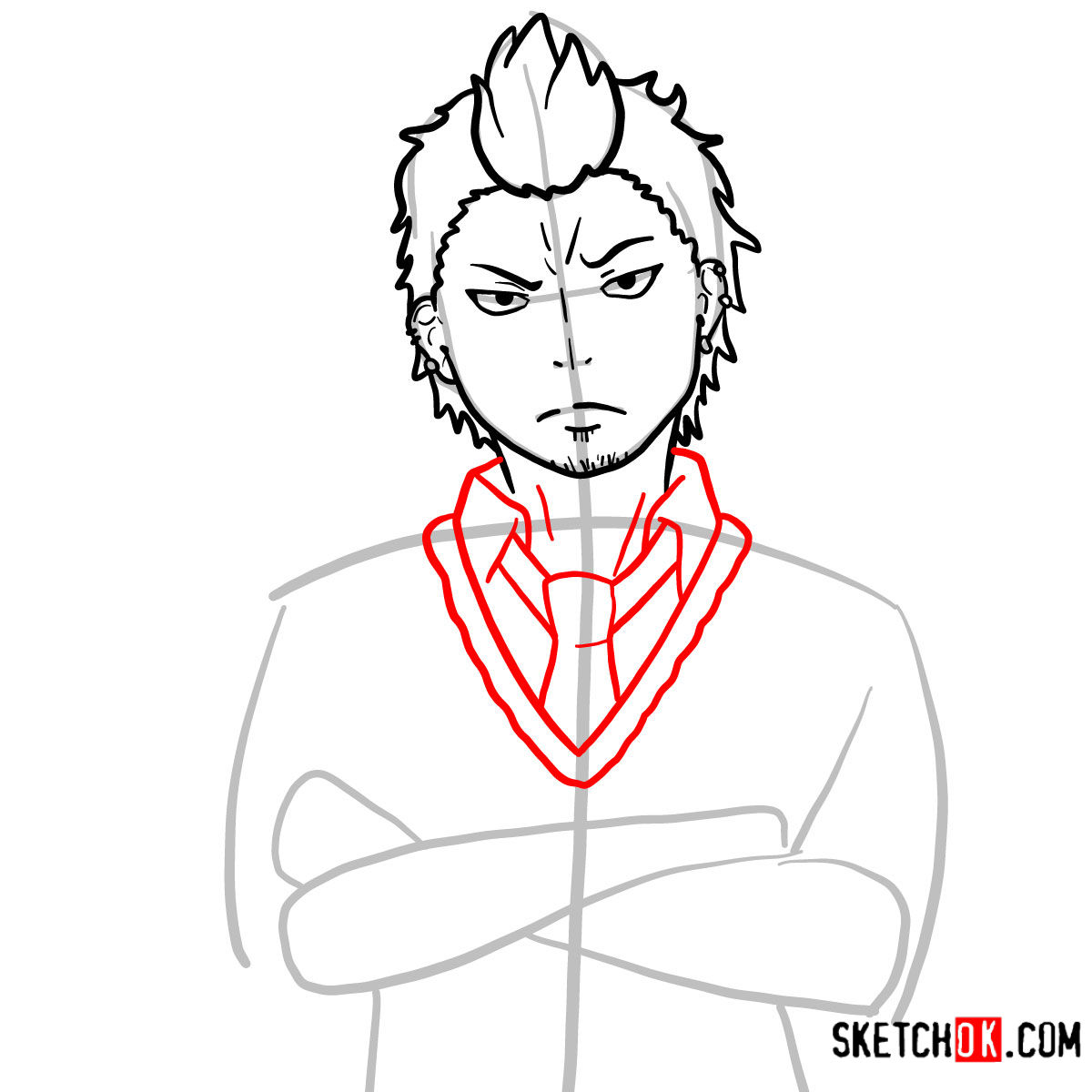 How to draw Ryuji Suguro | Blue Exorcist - step 08