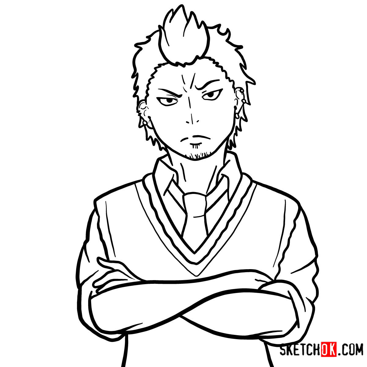 How to draw Ryuji Suguro | Blue Exorcist