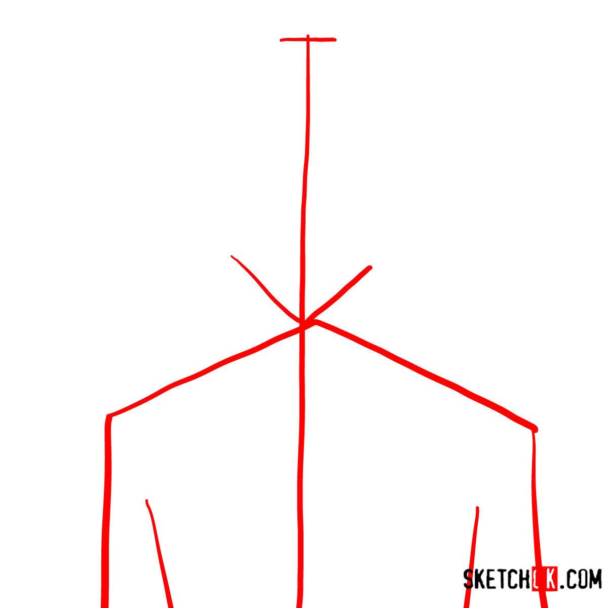 How to draw Yukio Okumura | Blue Exorcist - step 01