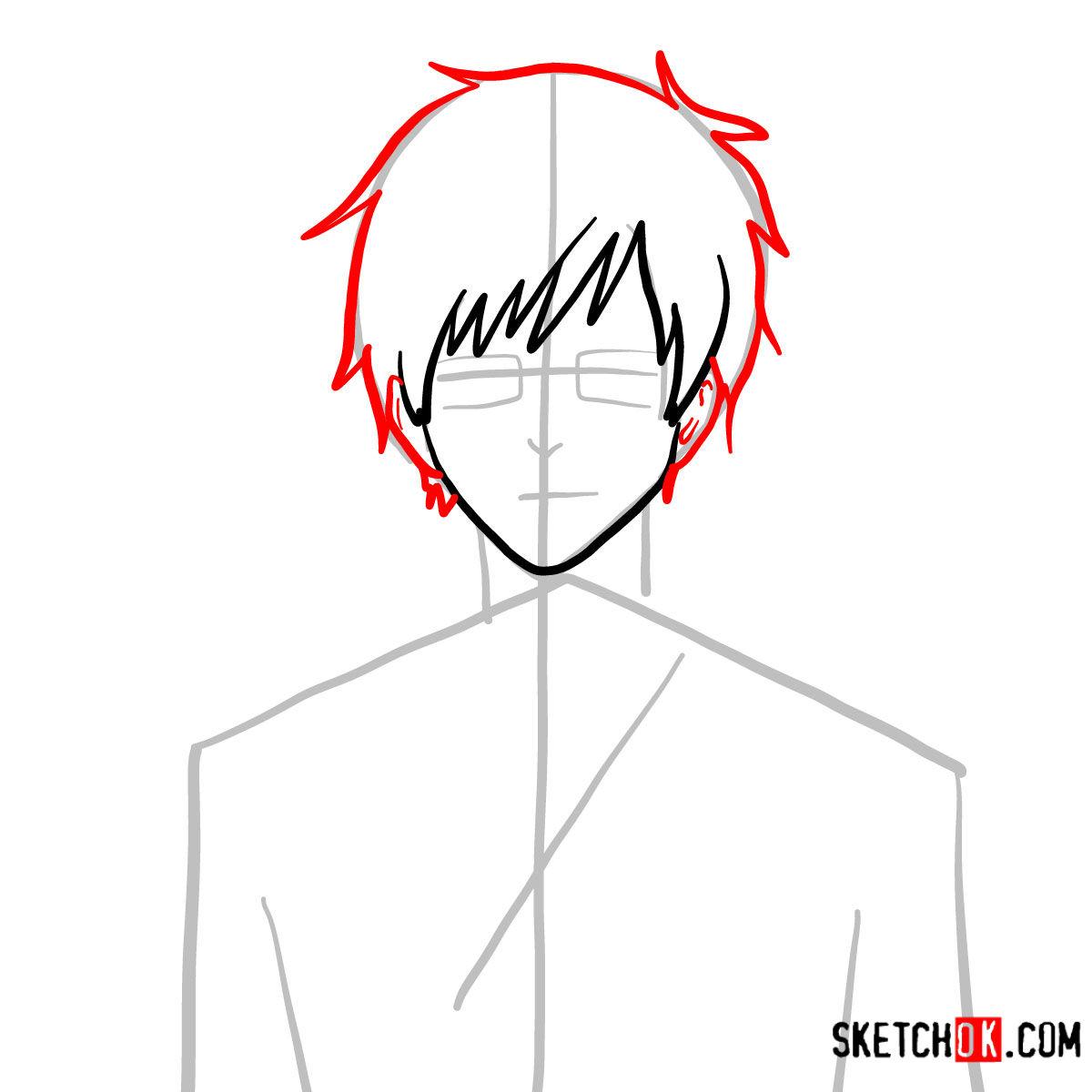 How to draw Yukio Okumura | Blue Exorcist - step 04