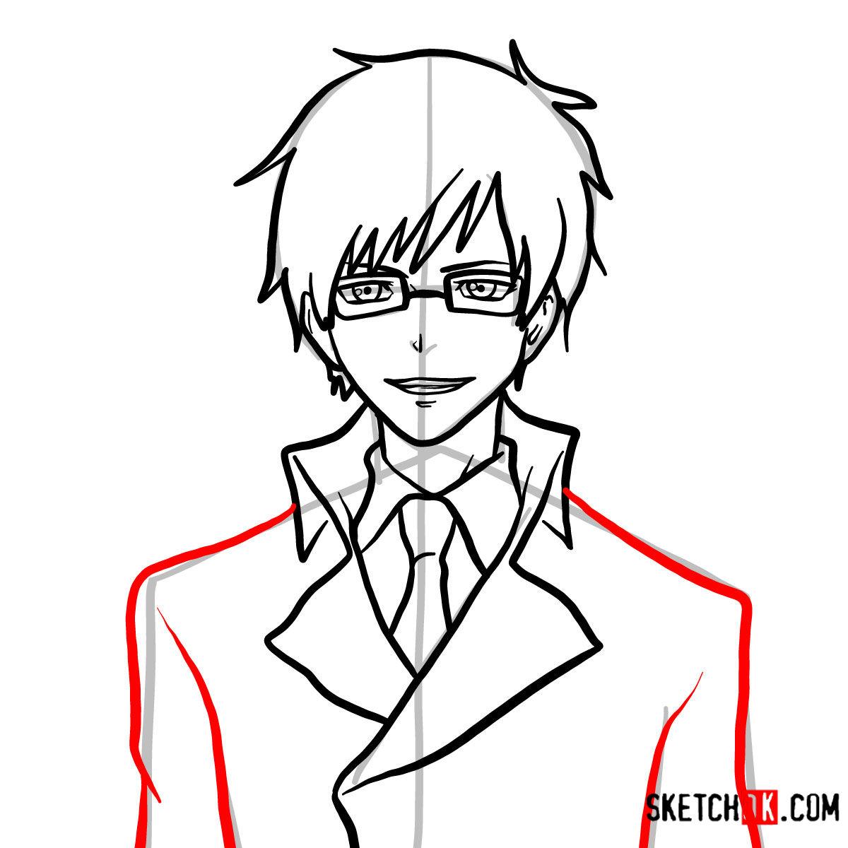 How to draw Yukio Okumura | Blue Exorcist - step 10