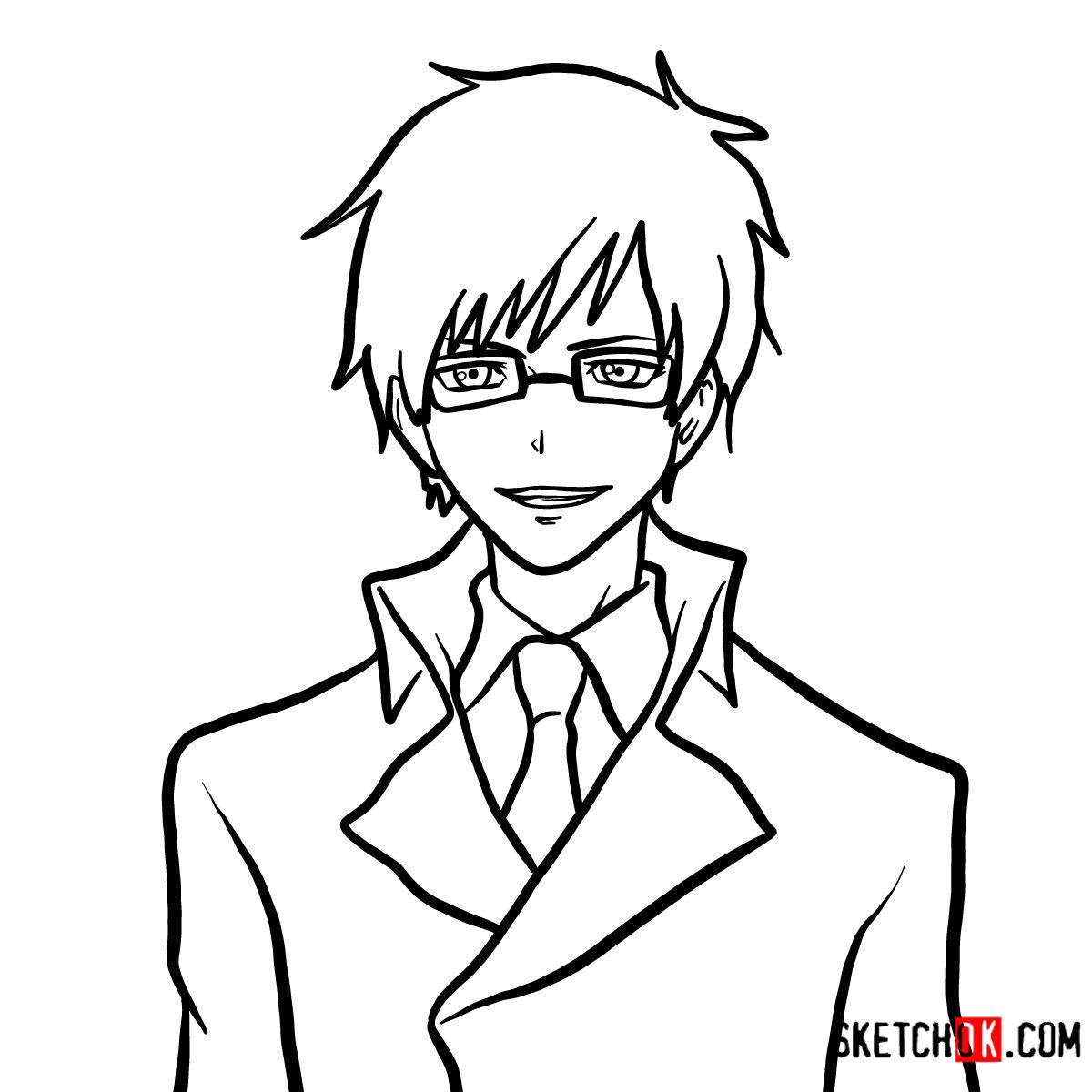 How to draw Yukio Okumura | Blue Exorcist