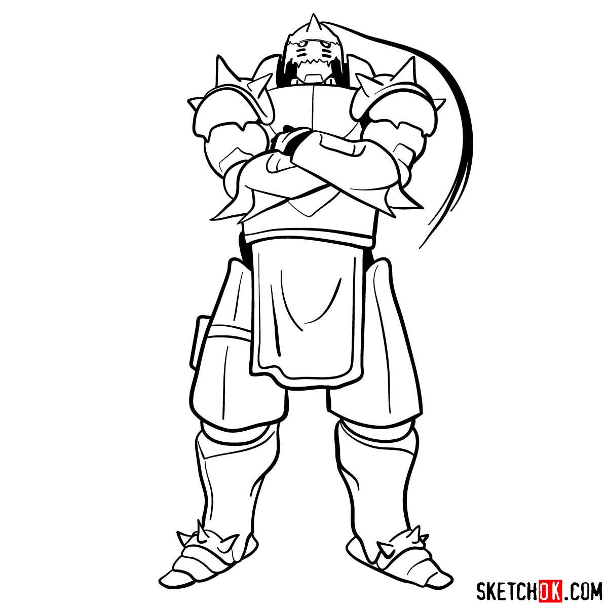 How to draw Alphonse Elric | Fullmetal Alchemist
