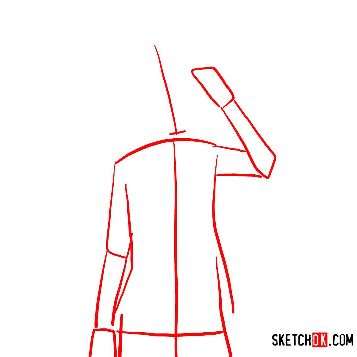 How to draw Tet   No Game No Life - step 01