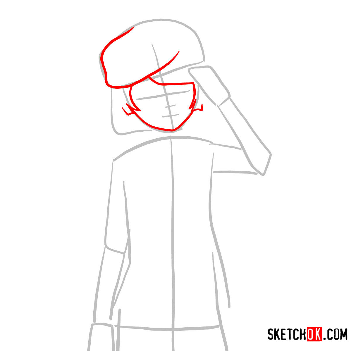 How to draw Tet   No Game No Life - step 03