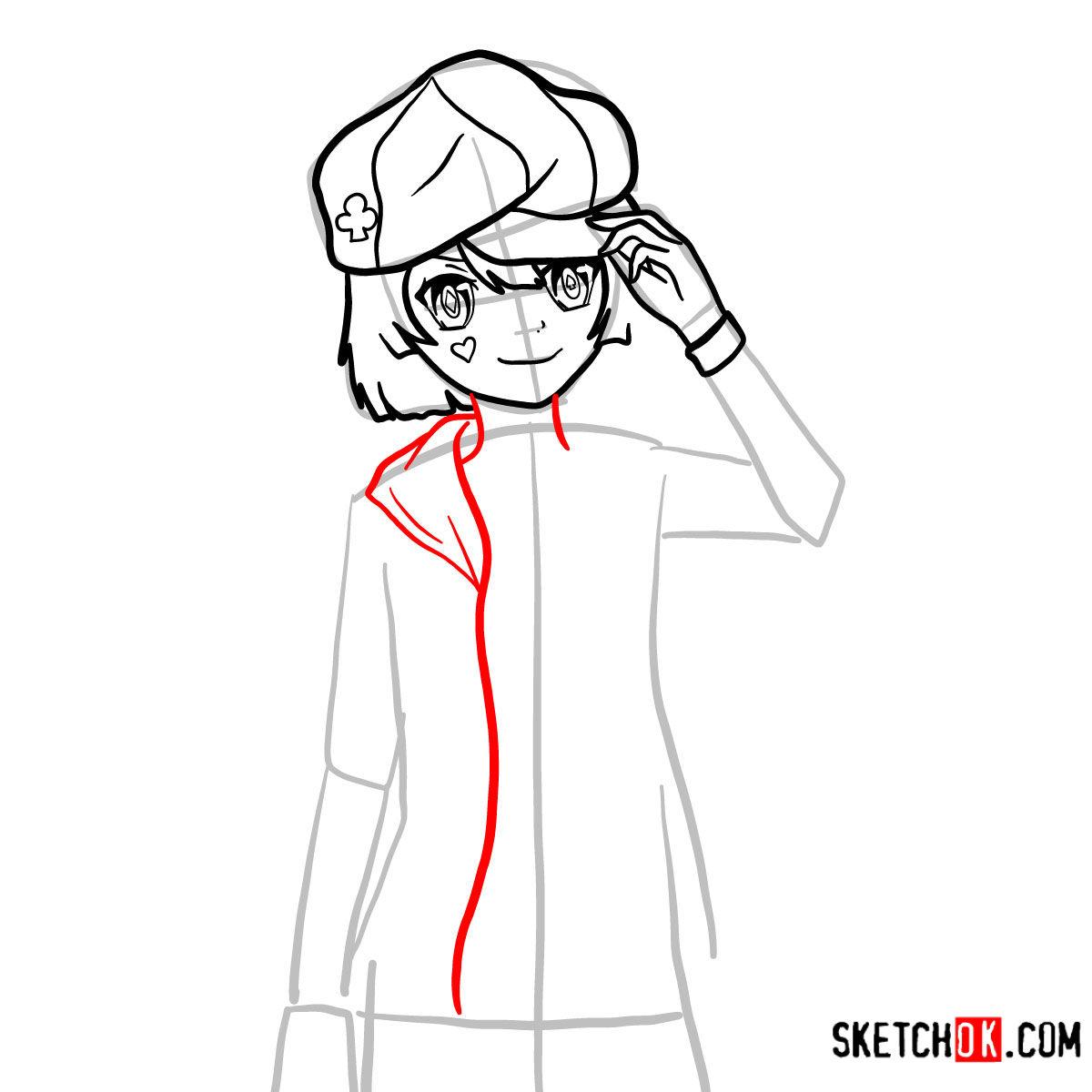 How to draw Tet   No Game No Life - step 07