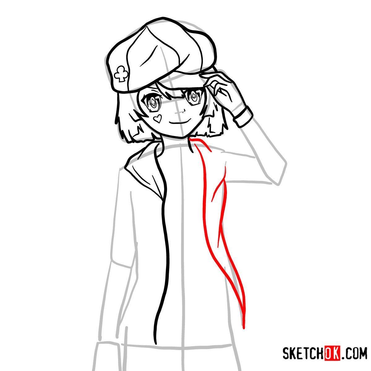 How to draw Tet   No Game No Life - step 09
