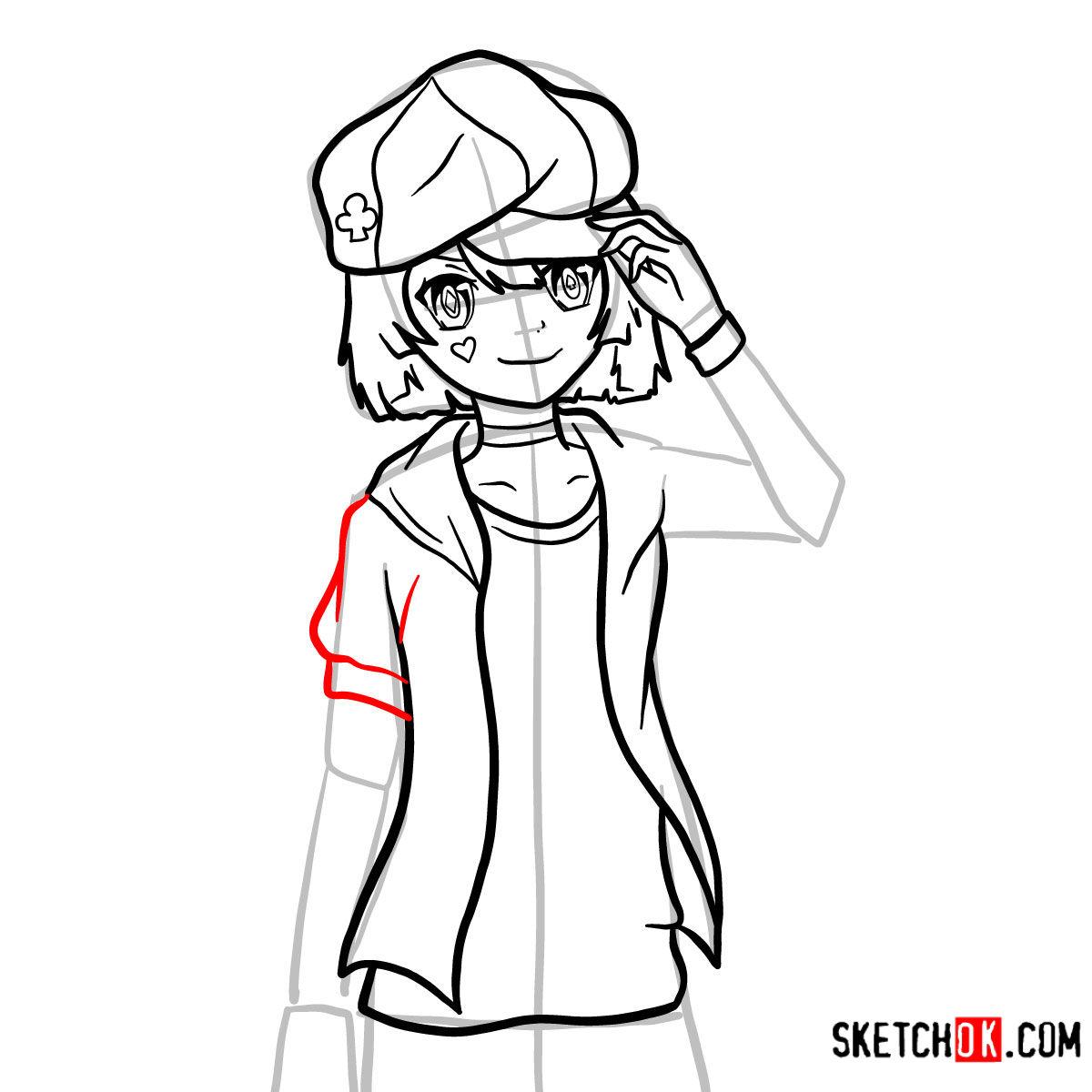 How to draw Tet   No Game No Life - step 12