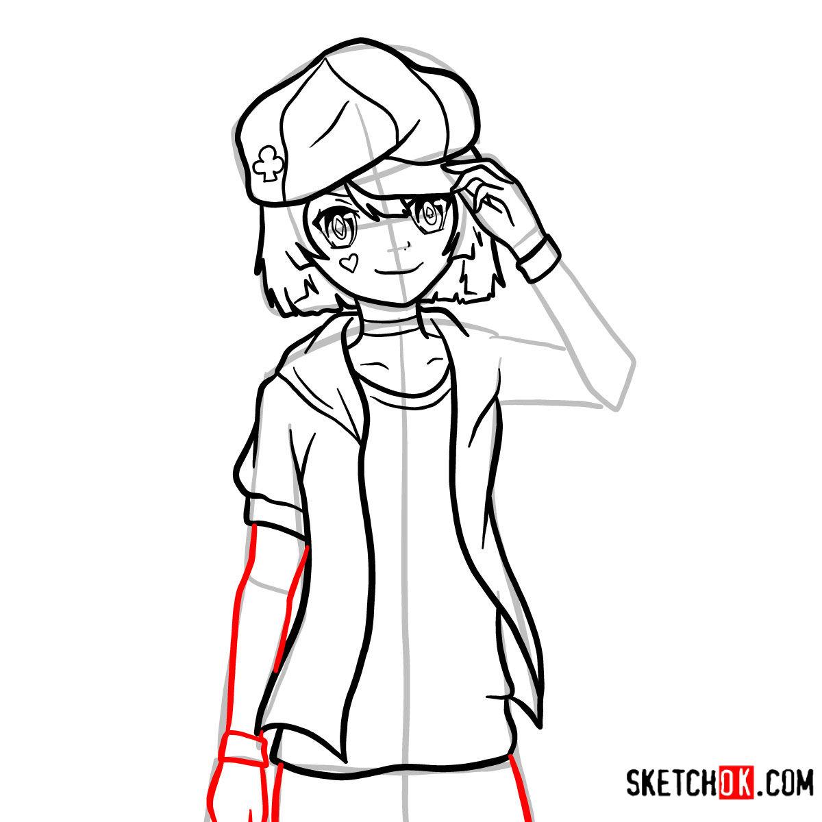 How to draw Tet   No Game No Life - step 13