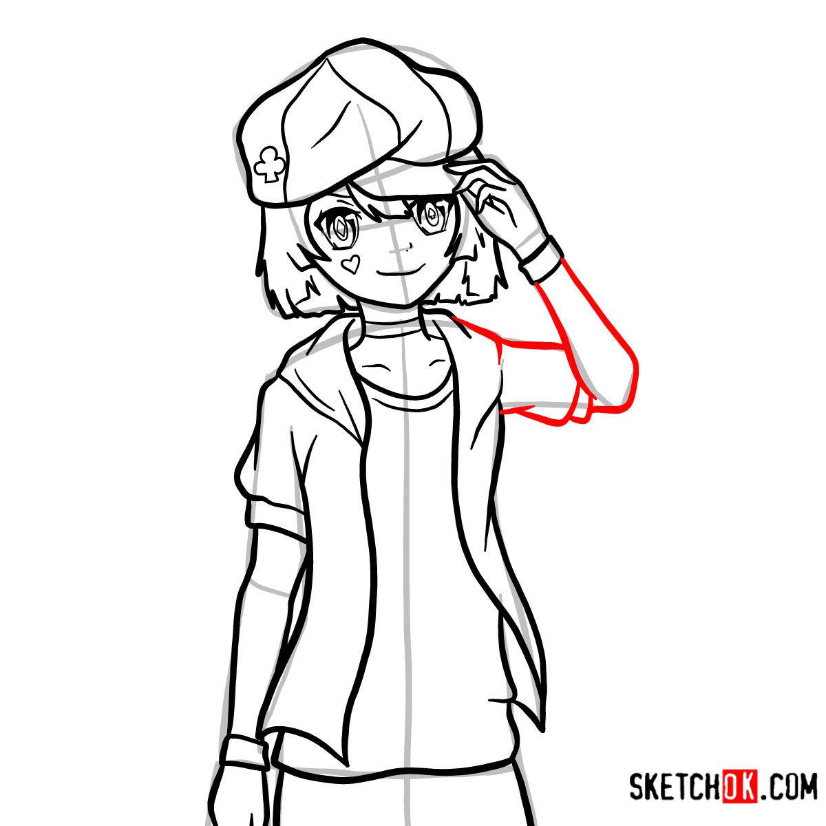 How to draw Tet   No Game No Life - step 14