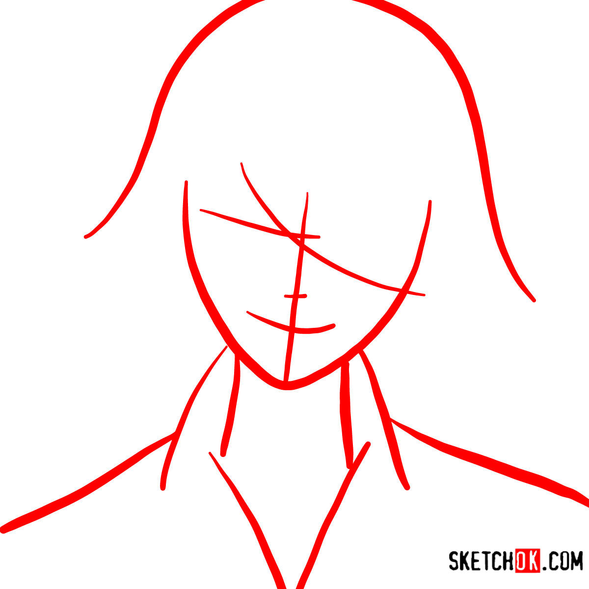 How to draw Juuzou Suzuya's face | Tokyo Ghoul - step 01