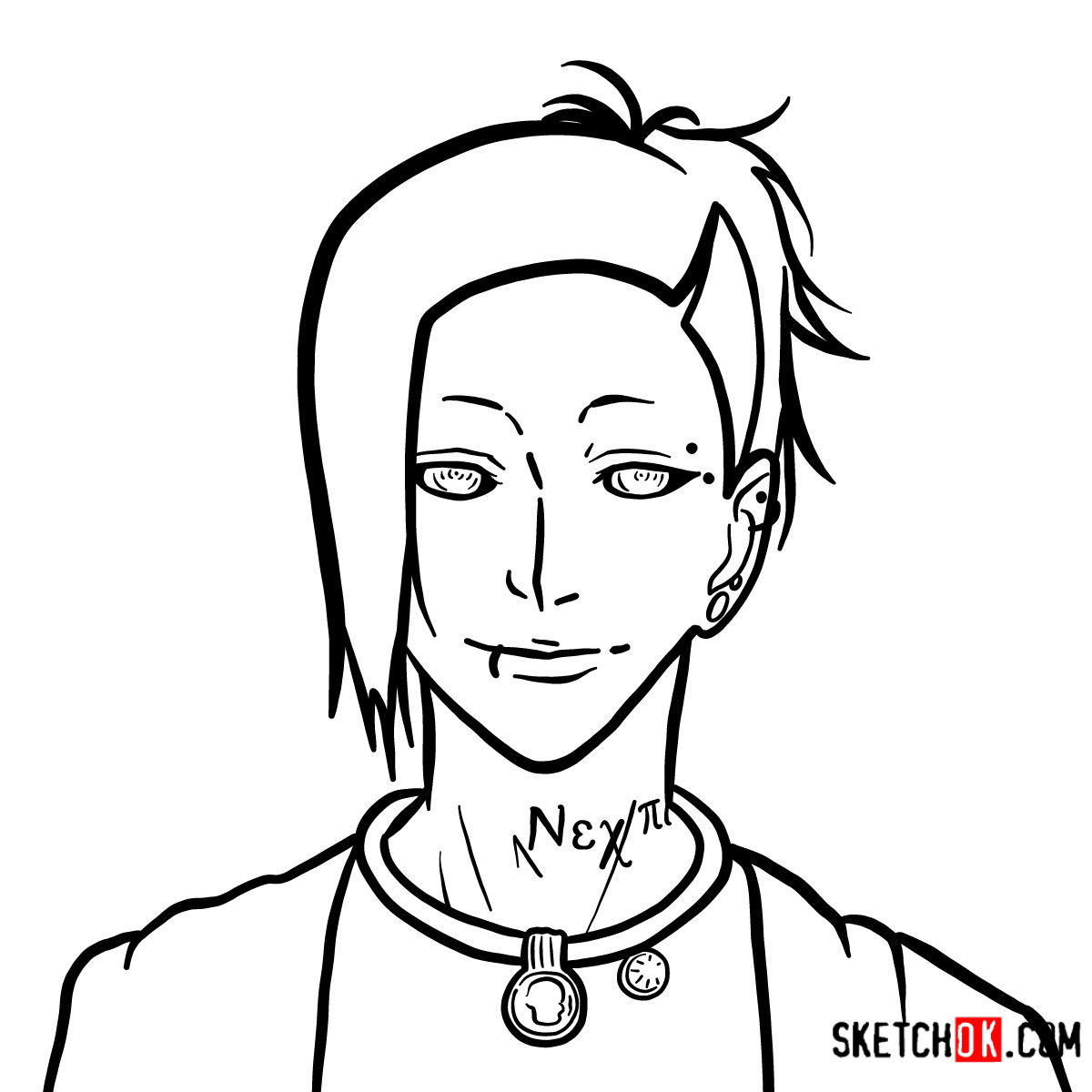 How to draw Uta's face | Tokyo Ghoul