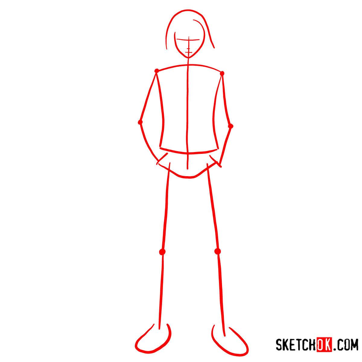 How to draw Ayato Kirishima full growth | Tokyo Ghoul - step 01