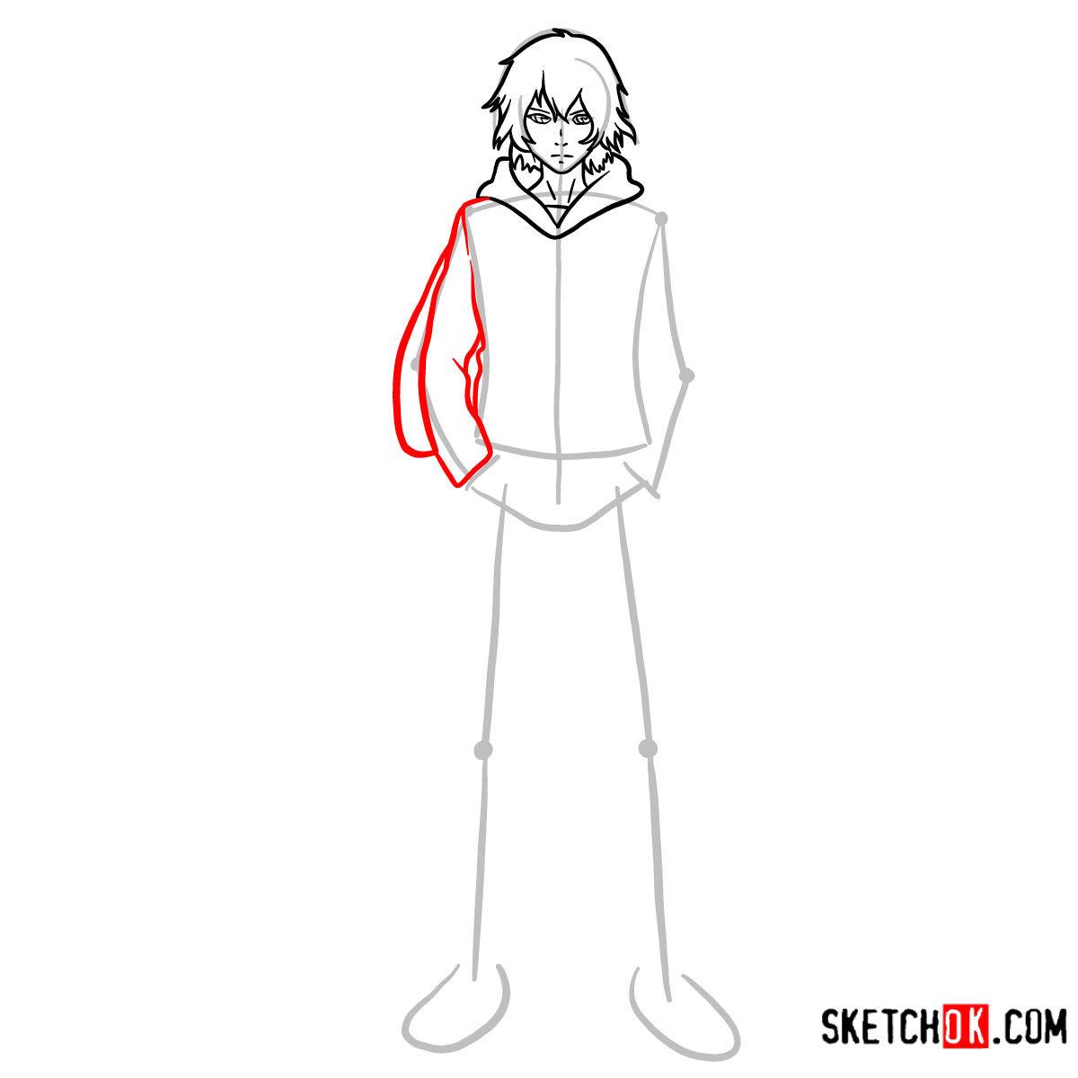 How to draw Ayato Kirishima full growth | Tokyo Ghoul - step 06