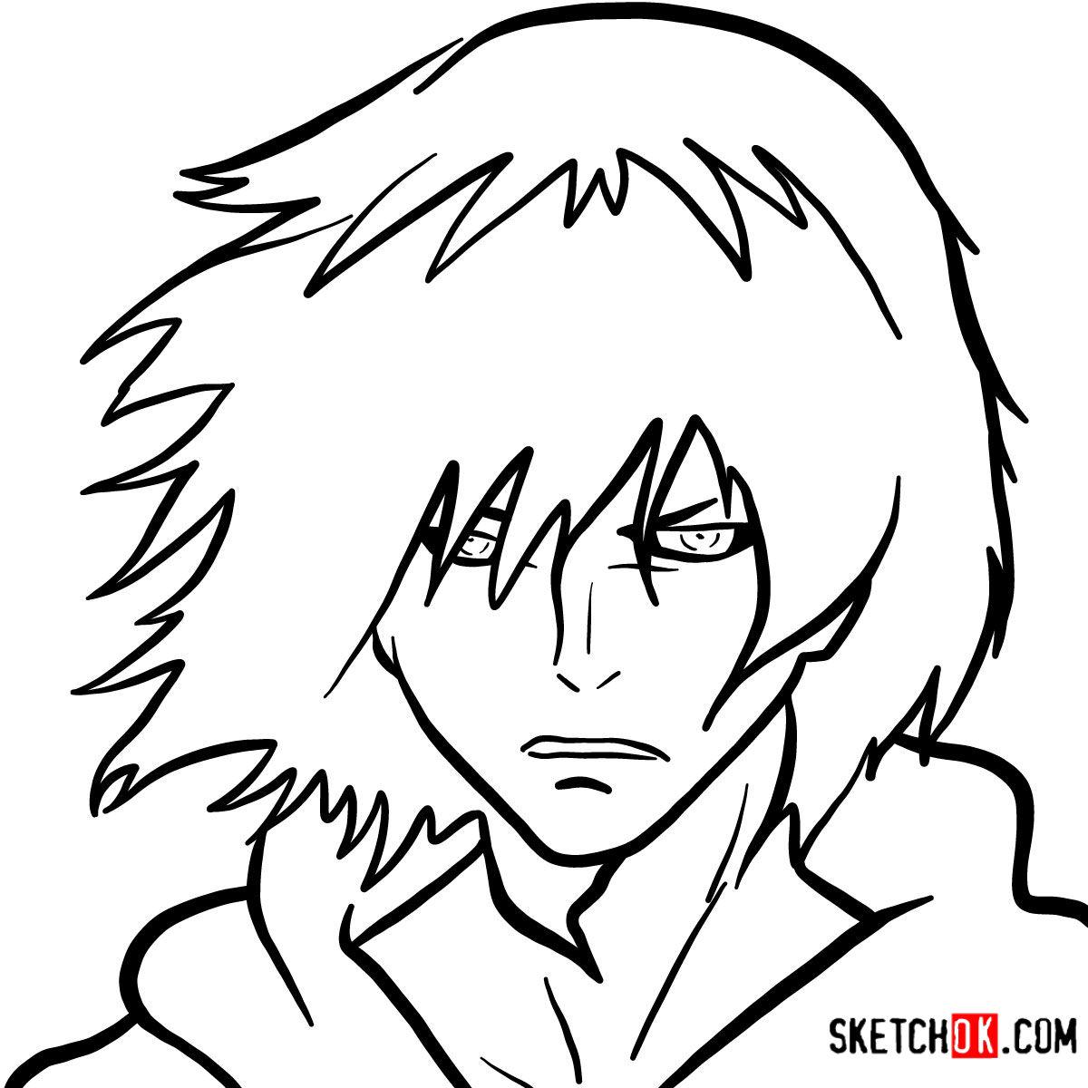 How to draw Ayato Kirishima's face | Tokyo Ghoul